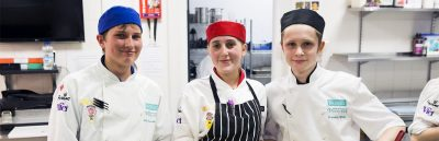 Student cooks at The Brasserie
